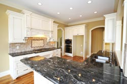 Black Granite kitchen white cabinets - Provo Provo