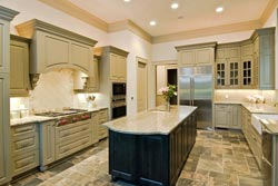Granite kitchen green cabinets - Salt lake City Salt lake City