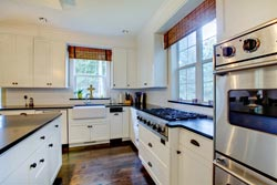 black granite white cabinets Granite kitchen - Provo Provo